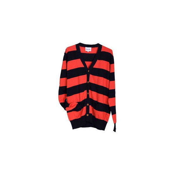 steven alan striped cardigan ($185) ❤ liked on Polyvore featuring tops, cardigans, sweaters, outerwear, stripes, red striped top, red cardigan, red stripe cardigan, stripe top and steven alan