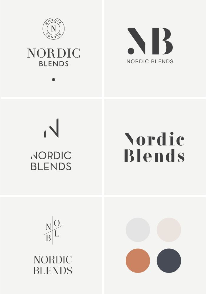 Brand Design process | Nordic Blends, webshop in Scandinavische designaccessoires | #minimalistic #soft #scandinavian #branding #branddesign