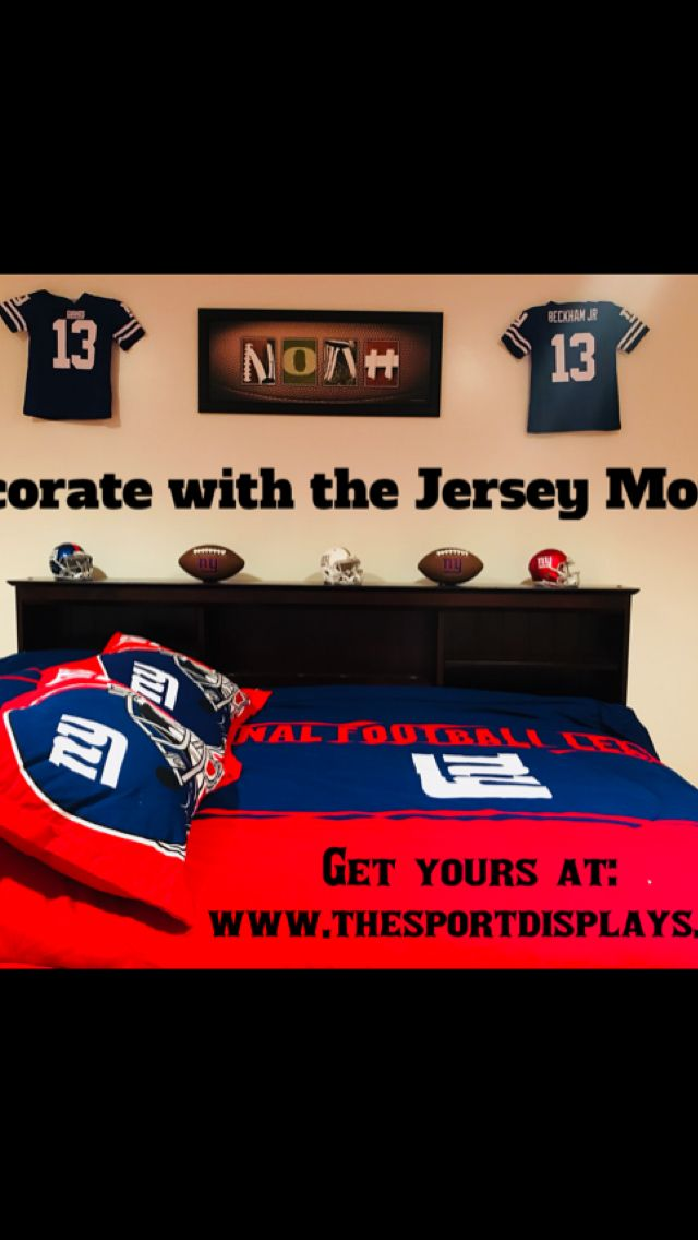 Hockey Jersey Mount from Sport Displays, www.thesportdisplays.com! No screws needed for installation! Attaches to the wall or ceiling! Custom colors and branding available! Make every day game day with the Jersey Mount from Sport Displays