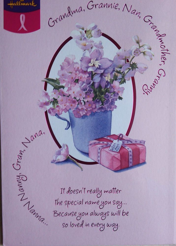 Hallmark Mothers Day Card suitable for Gran , Nana , Nan , Grandma, Granny, Nanny many more #mothersday