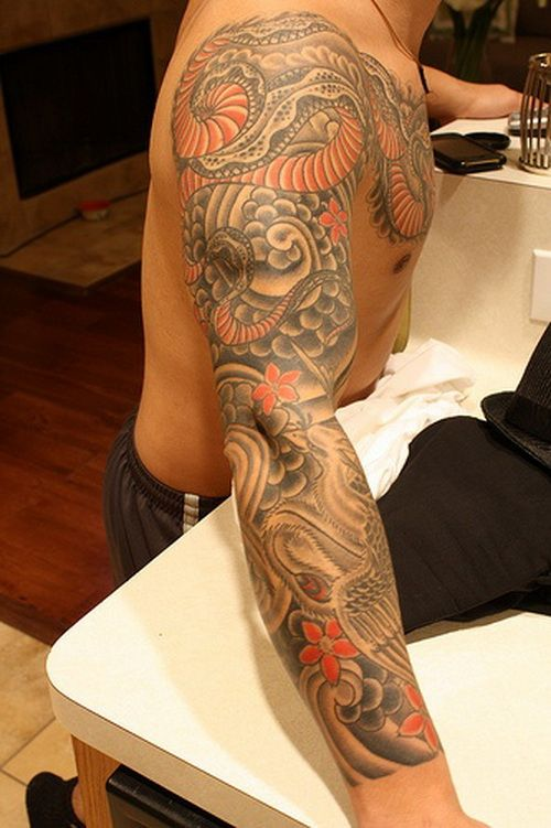 tattoo sleeve ideas for men | Dragon Sleeve Tattoos for Men |Tattoo Ideas