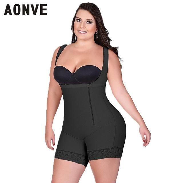 e29f625ecd5 AONVE Women Bodysuit Slimming Sheath Corset Modeling Strap Shaperwear Lace  Sexy Body Shaper adjustable straps hooks
