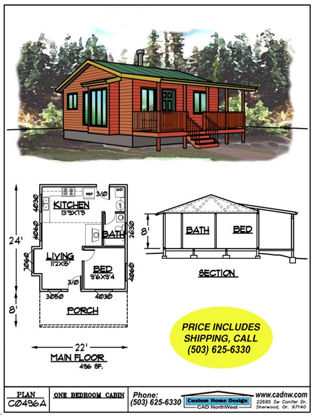Sales Drawing C0496a Floor Plans Small Houses Pinterest