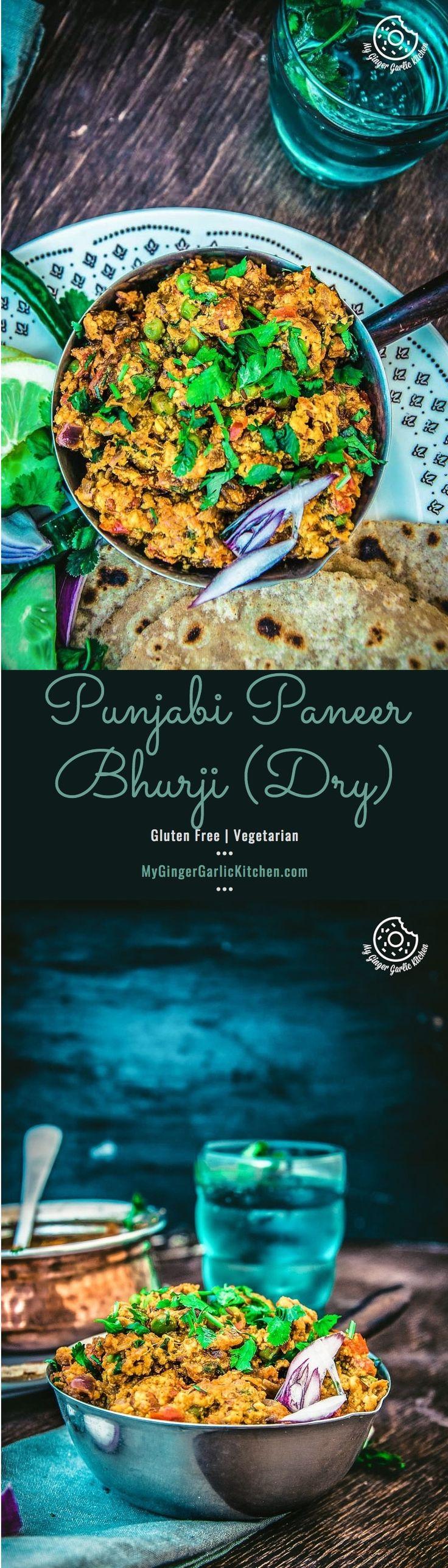 Wie macht man Paneer Bhurji |  Punjabi Paneer Bhurji Trockenes Rezept |  Rührei  Mygingergarlickitchen.com/ @anupama_dreams