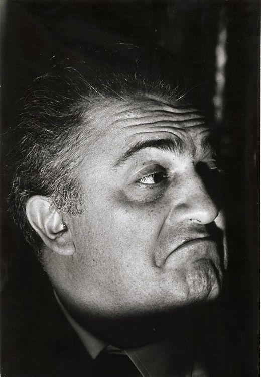 Federico Fellini (1920-1993) - Italian film director and scriptwriter. Photo © Pierre Boulat