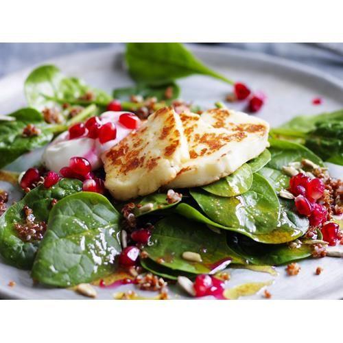 Quinoa salad with haloumi and pomegranate recipe - By Australian Women's Weekly