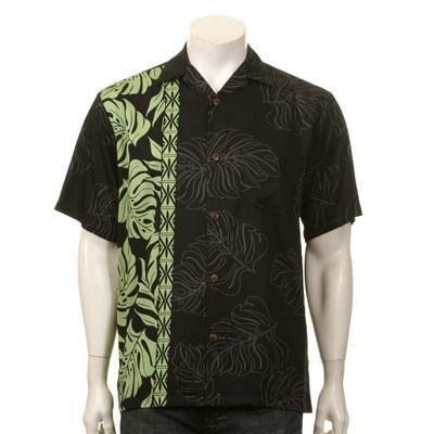 Prince Kuhio Men's Aloha Shirt ~ Black/Green from hilohattie.com