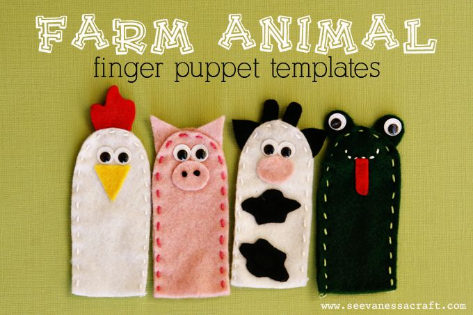 Farm Animal Finger Puppet Templates