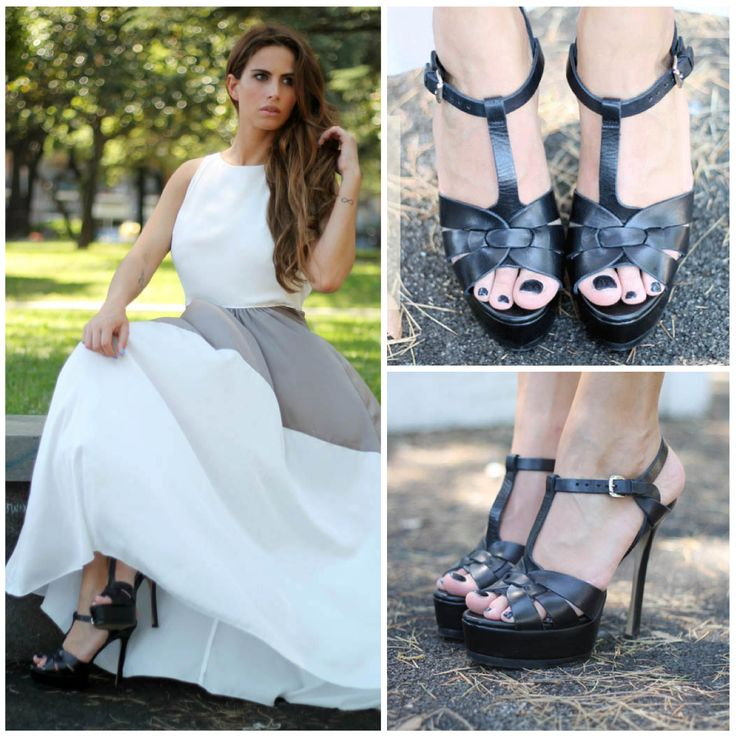 Η Ιταλίδα Fashion Blogger Barbara Grimaldi, από το Lovehandmade - finding fashion, με μαύρα High Heels σανδάλια #SanteShoes Summer 2014 #SanteBloggersSpot Δες περισσότερα στο La Grèce J'aime