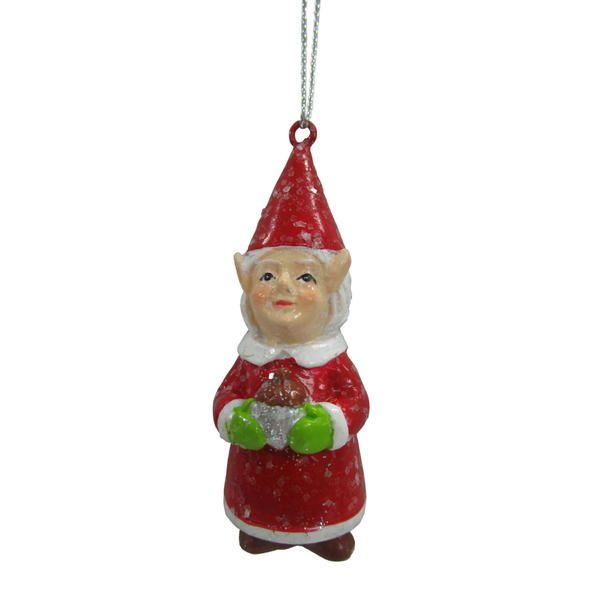 "Kmart Jaclyn Smith Mrs. Santa Gnome 2.75"" X"