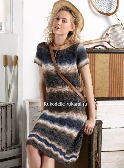 Как связать Летнее платье спицами и крючком #вязание #крючком #спицами #рукоделие #хендмейд
