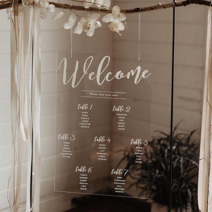 35 kreative DIY Sitzplan-Ideen für die Hochzeit