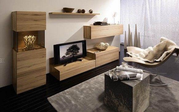2010 Living Room Wall TV Unit Design Ideas From Huelsta