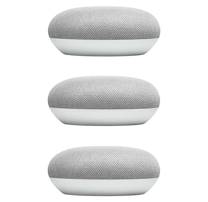 Google Home Mini Smart Speaker With Google Assistant Charcoal 3pk Google Home Mini Smart Speaker Mini