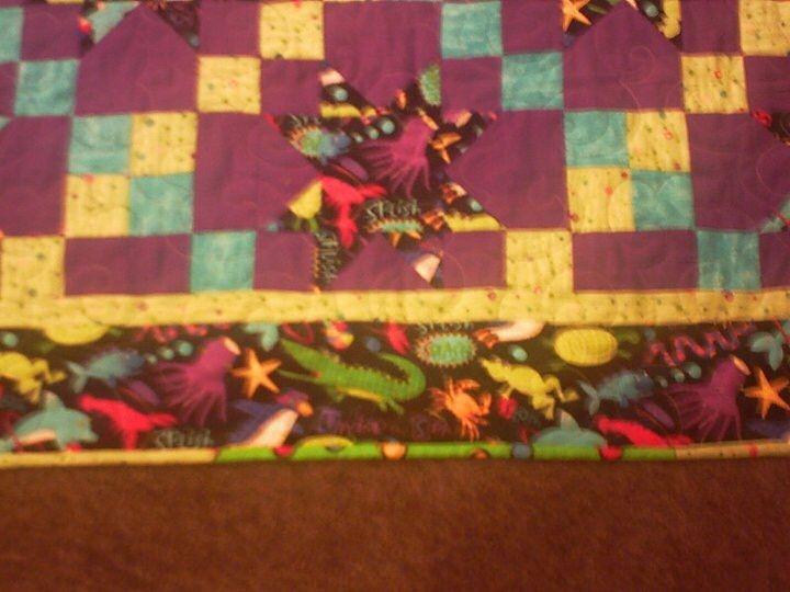 Michaelas bed quilt up close