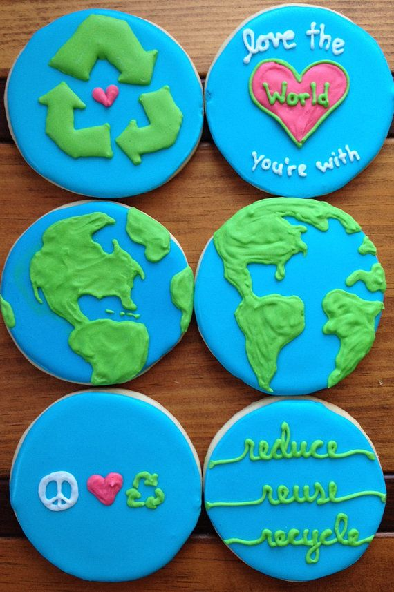 Earth Day Cookies Reduce Reuse Recycle by SoManySomethings