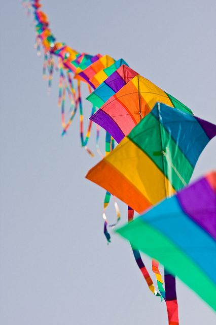 Colorful Kite Train | Kites, Trains and Gods promises