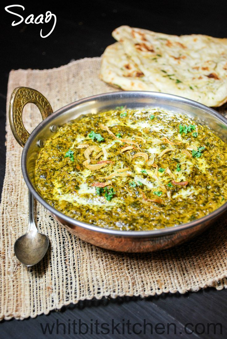 Saag - A vitamin powerhouse of mixed greens simmered in Indian spices. Perfect with naan and rice.