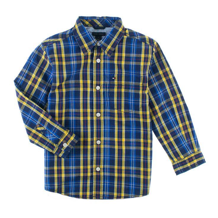 For små tøffinger! Skotskrutet skjorte i moderne farger fra Tommy Hilfiger.