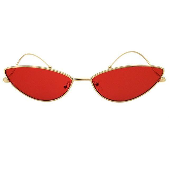 Kaleidoscope Glasses Metallic Body Cat Eye Sun shades Males Ladies Retro Small Cateye 90s Solar Glasses Model Designer Goggle UV400