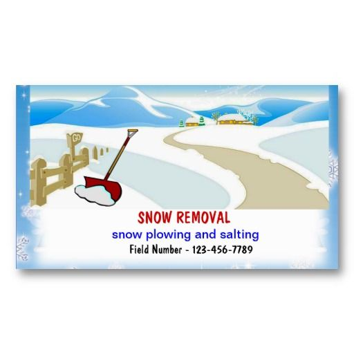 Snow Removal Business Cards