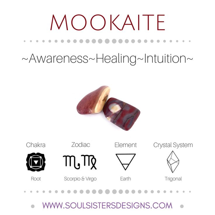 Metaphysical Healing Properties of Mookaite, including associated Chakra, Zodiac and Element, along with Crystal System/Lattice to assist you in setting up a Crystal Grid. Go to https:/stoulsistersdesigns.com to learn more!