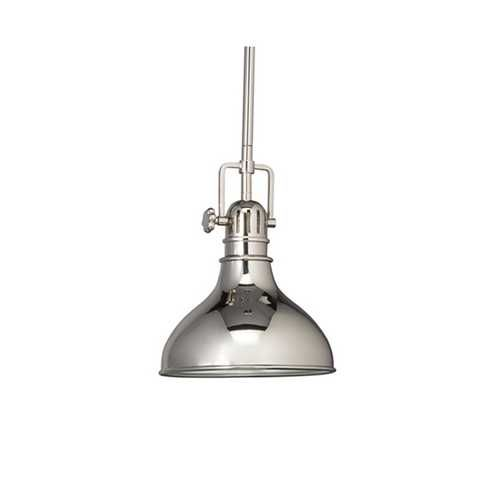 Kichler lighting nautical mini pendant in polished nickel 8 inches wide 2664pn