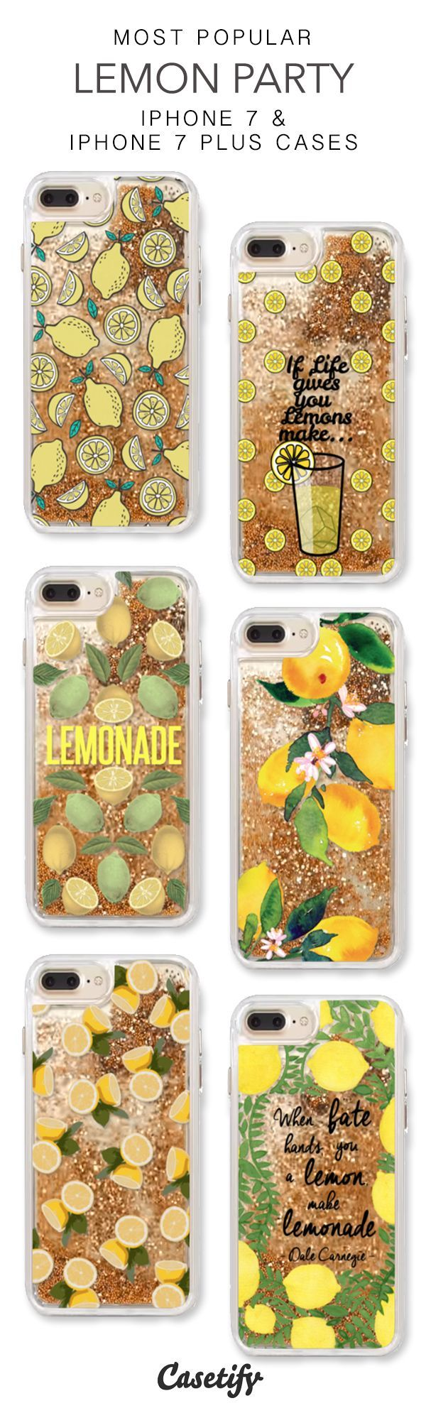 Most Popular Lemon Party iPhone 7 Cases & iPhone 7 Plus Cases. More liquid glitter iPhone case here > https://www.casetify.com/en_US/collections/iphone-7-glitter-cases#/?vc=waSEkxgm58 #iphone7plus,