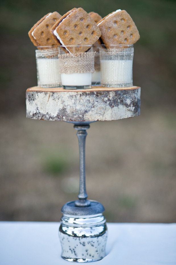 S'Mores ~ from Dessert Buffet Inspiration on Style Me Pretty's Little Black Book Blog~ Photography by Erica Ann Photography, Coordinated by Bridal Bliss, Dessert Buffet by One Divine Party #wedding #mariage #bar à bonbons #candy bar