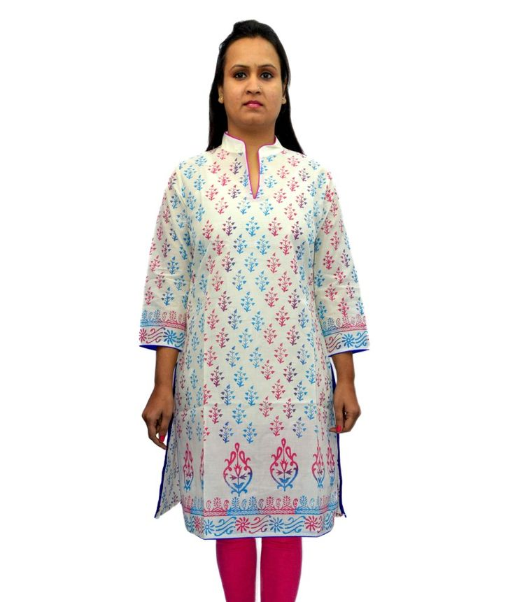 Loved it: Bpt White Cotton Printed Chinese Collar Kurti, http://www.snapdeal.com/product/bpt-white-cotton-printed-chinese/686157868