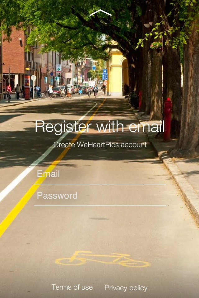Welcome the 1.1 update! http://itunes.apple.com/us/app/weheartpics/id488515478  Great new features and experience inside:    - Register with email.   - Add caption and track every comment.  - Integration with Pinterest. Pin your pics right from the app.    - We add an ability to connect WeHeartPics with your Facebook timeline.   - Many visual and productivity improvements are also included.  - Also! Meet our amazing Katie Heart - your guide to WeHeartPics. Twitter: @_katieheart