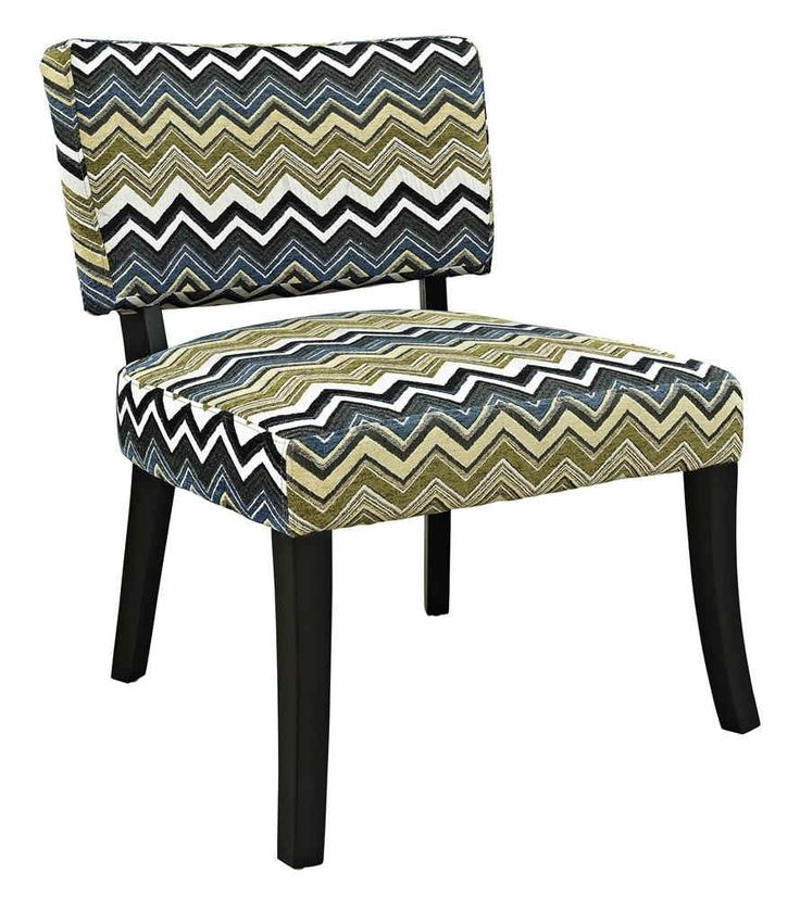 Good Powell Cool Tone Chevron Print Armless Chair   Overstock™ Shopping   Great  Deals On Powell Living Room Chairs