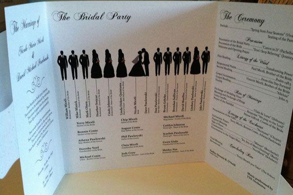 17 Imaginative Wedding Program Ideas:  #6. silhouette wedding program