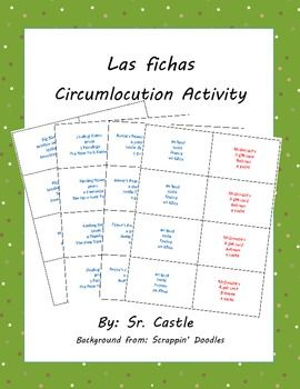 Circumlocution Speaking Activity Cards