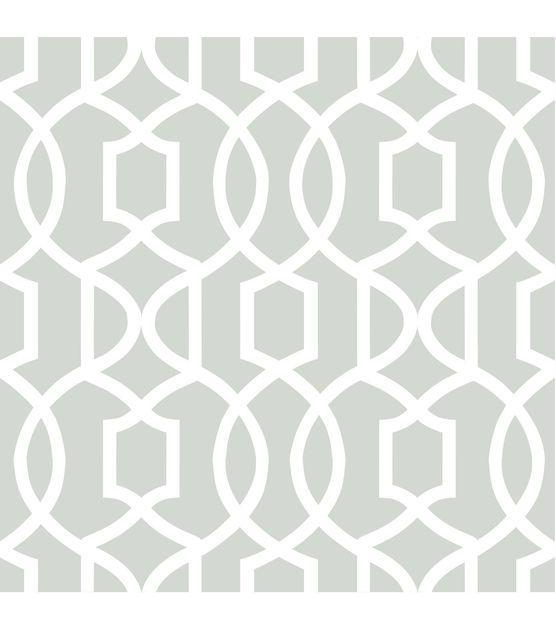 WallPops®NuWallpaper™ Gray Grand Trellis Peel And Stick Wallpaper