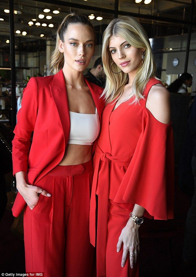 Red hot! Hannah Ferguson, 25, and Devon Windsor, 23, commanded attention at the E! Model Squad promotion in New York on Thursday