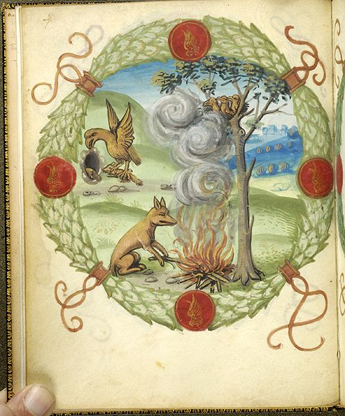 Fables and other poems, MS M.422 fol. 4v - Images from Medieval and Renaissance Manuscripts - The Morgan Library & Museum