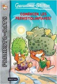 """Prehisto-rats. Comencen les prehistolimpíades de Geronimo Stilton. Ed. Estrella Polar. """"Atenció, atenció: els jocs més populars de la prehistòria estan a punt de començar, les Prehistolimpíades! Entre els preliminars de Clava Clava Crush i el llançament final del crit, Geronimo i Snoop es trobaran cara a cara amb Tiger Khan i els seus sequaços en una aventura... Megalítica!"""""""