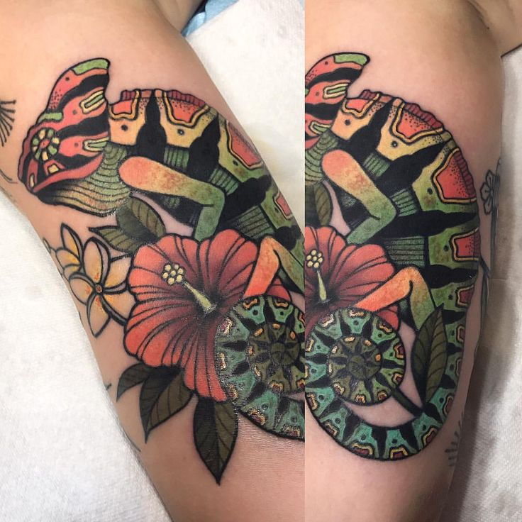 "496 Likes, 14 Comments - • Hilary Jane • (@hilaryjanetattoos) on Instagram: ""Tropical 🌴🐠🌴"""