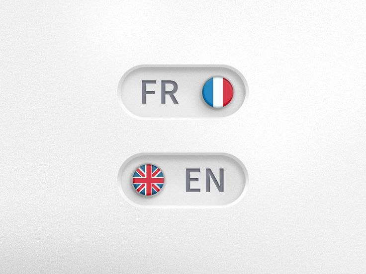 Languages toggle button by Léa Poisson