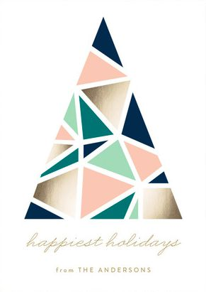 Spread holiday cheer with a modern Christmas card. Shop Abstract Tree Holiday Cards by Erica Krystek at minted.com