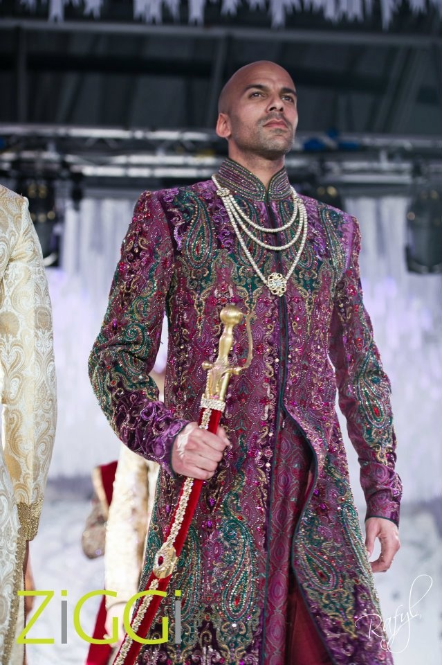Color is good but suits only a few . Sherwani #wedding purple sherwani. Ziggi Studio April 2012