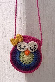 free crochet pattern little girl purse - Google Search: