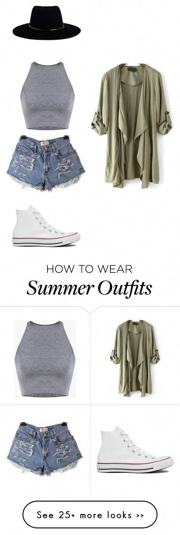 Summer outfit by maddygrace1 on Polyvore with carpenter and converse #cute