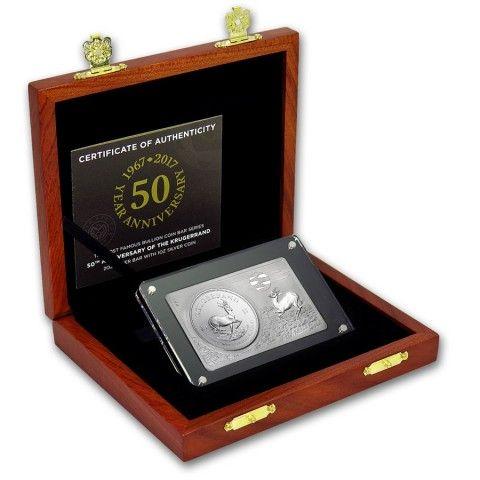2017 3 OZ SOUTH AFRICA KRUGERRAND 50TH ANNIVARSARY 999 SILVER PREMIUM BAR. #HongKong #LPM #LuciusPreciousMetals  #Silver #Coins