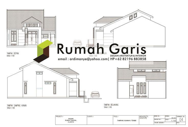 Tampak Rumah 2 Lantai Luas Tanah Dan Tipe Modern House Floor Plans Building Design Architecture