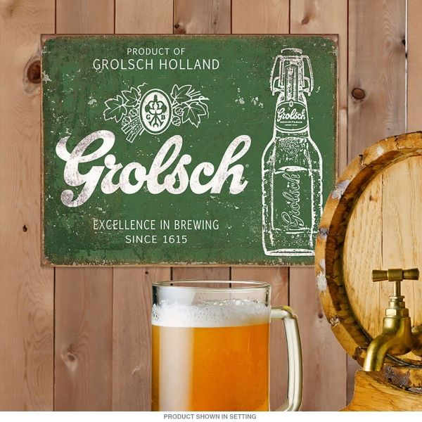 Grolsch Beer Excellence In Brewing Tin Sign - new