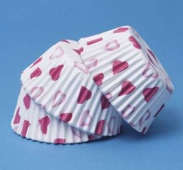 60 Moldes de cupcakes corazones