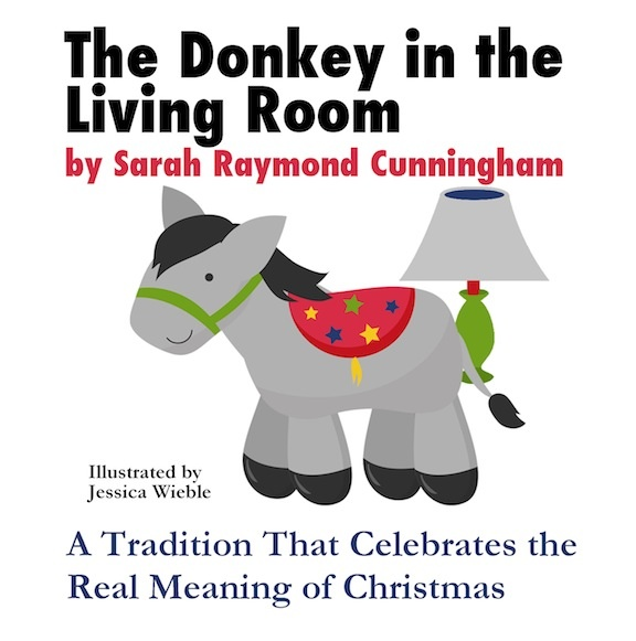 The Donkey in the Living Room.  A great way to bring the Christmas Story to your children.  You wrap 9 figurines (from your Nativity scene) and they unwrap one each day while you read the story! Amazing!