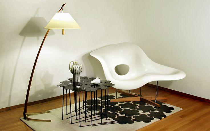 La Chaise de Eames-Table /tapis Hubert le Gall-Lmape Kalmar